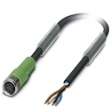 PUR cable with IP68 connector